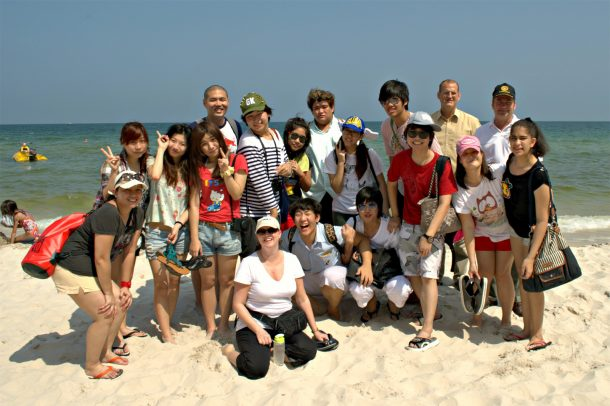 The WIS Green Share Club cleaning the beaches in Hua Hin