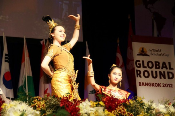 WIS students perform at the 2012 global round of the World Scholar's Cup