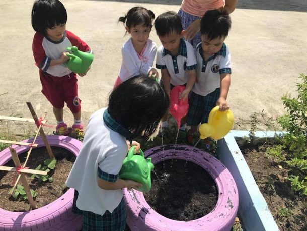 Wells Bangna kindergarten pic farming