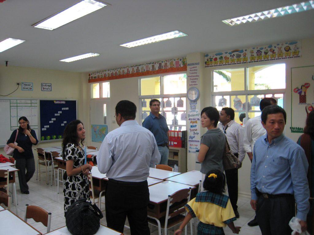 Parents visiting Grade 1 classroom