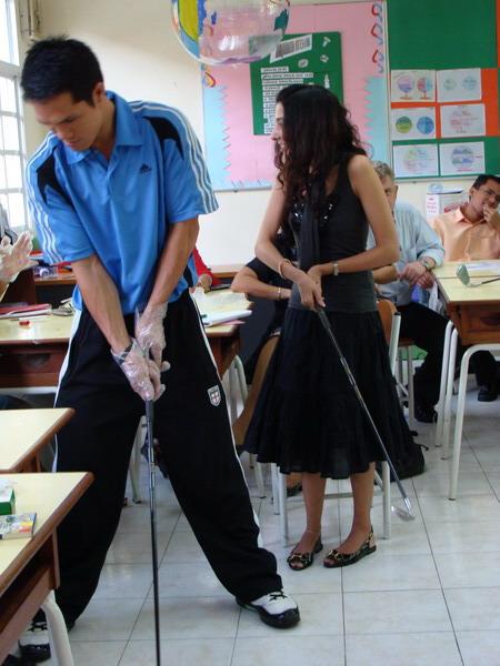 Teachers demonstrating learning
