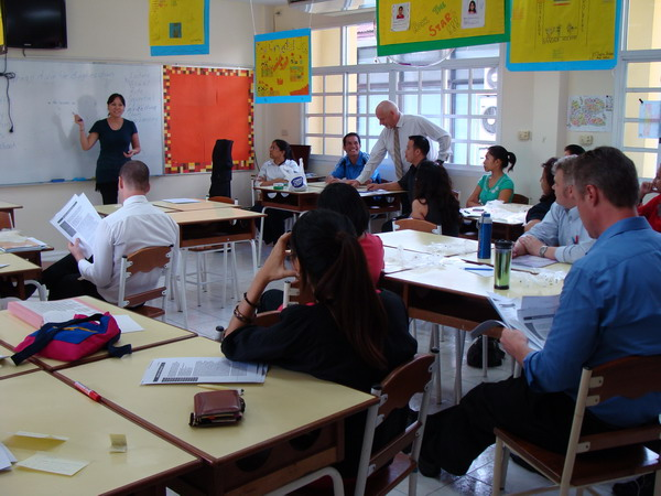 """Counselor helping teachers understand the concept of """"at risk"""""""