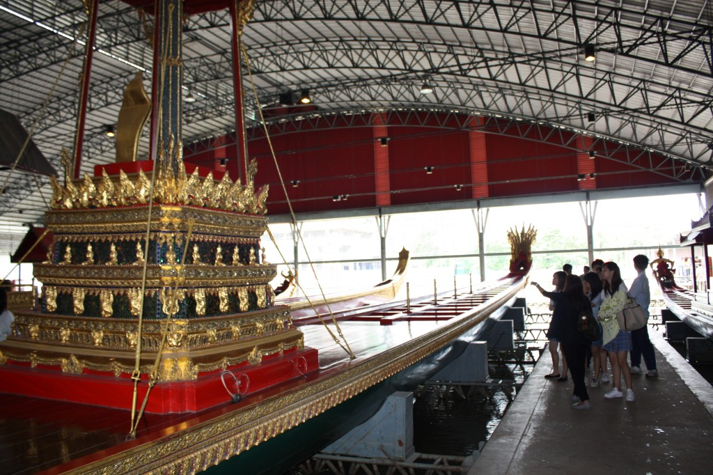 Students appreciated the craftsmanship involved in making the royal barges.