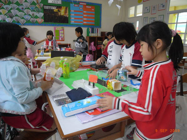 Students Building Model of Community using Recyclable Materials - Grade 3