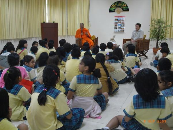 Presentation by a Buddhist Monk - Social Studies, Grade 4 & 5 (Wells International School continues to identify and make use of community resources to enhance student learning)