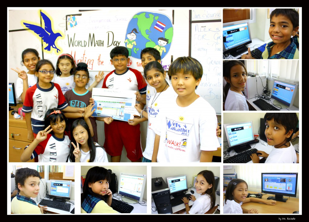 Grade 4 & 5 students getting on top of things in the World Math Day 2010 competition