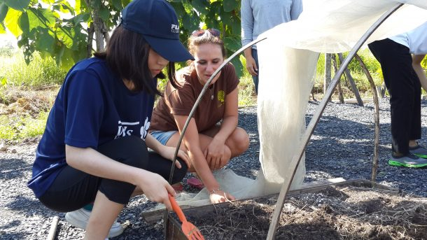 IB Environmental Systems and Societies (ESS) trip connecting with local farming community and learning farming techniques