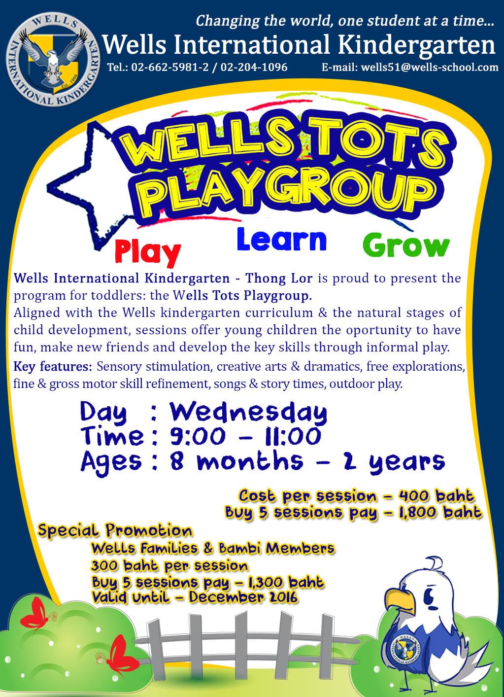 2016 Playgroup Program