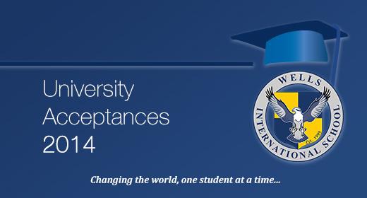 University Acceptances 2014