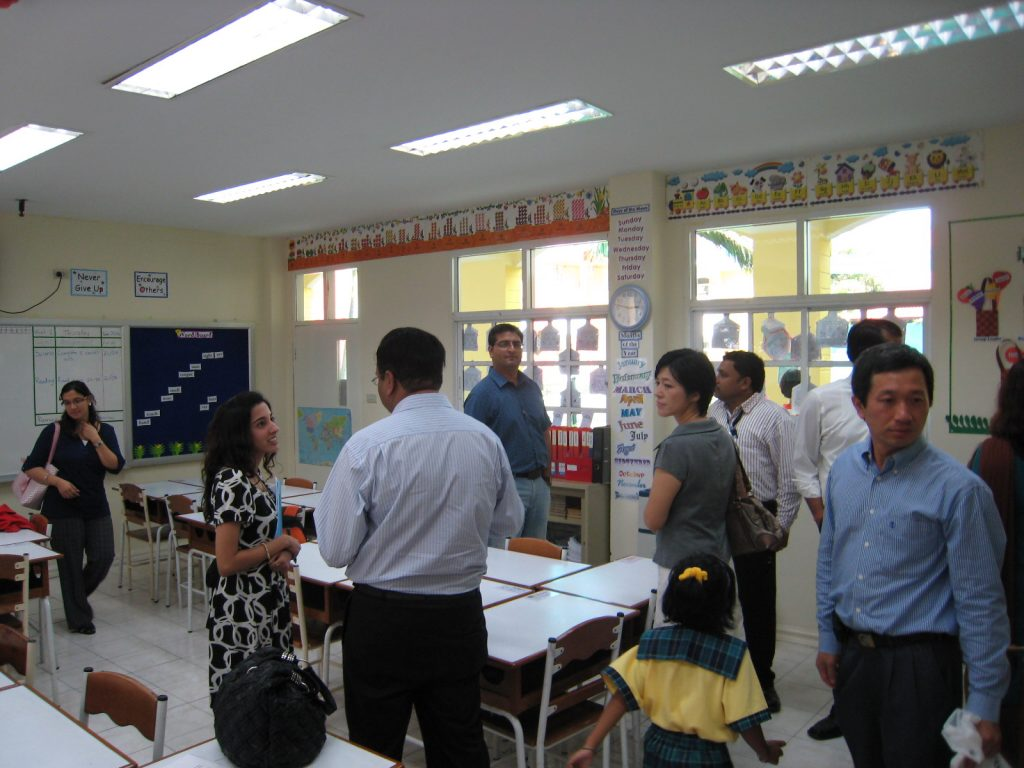 Parents visiting Grade 1 classroom