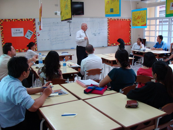 On-going teacher training at Wells International School led by Mr. Lawrie Shier, the Academic Director of Primary section