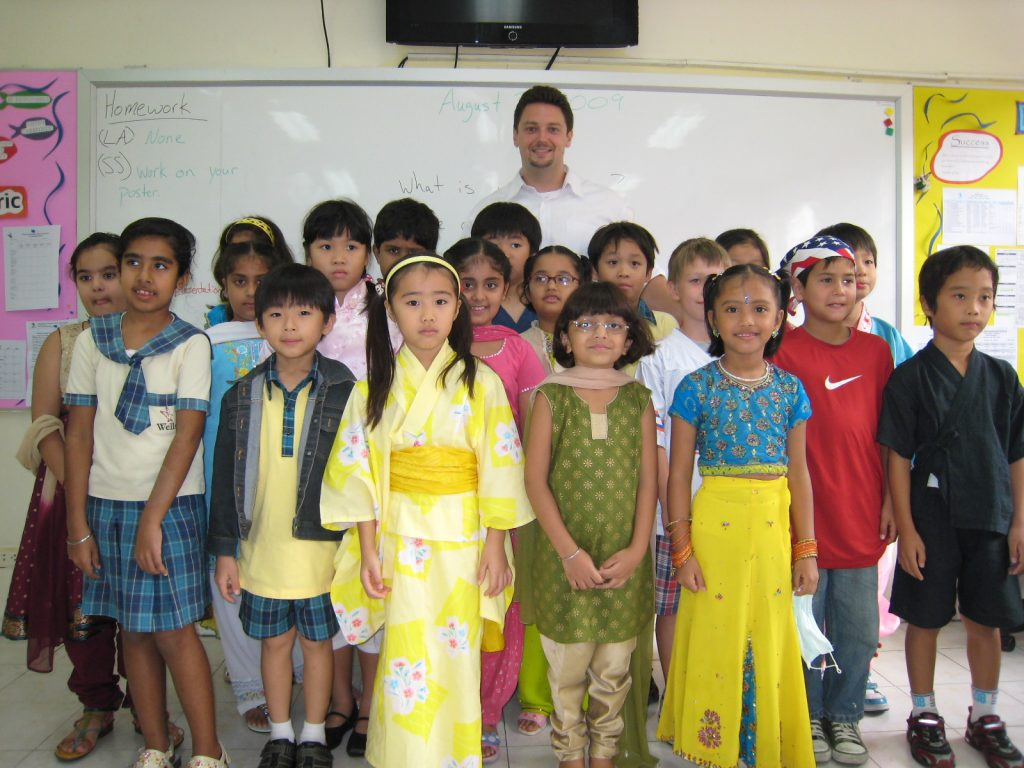 "Grade 3 - after doing an oral presentation on ""communities around the world"""