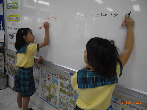 Students Constructing their own Word Problem in Math Class - Grade 1