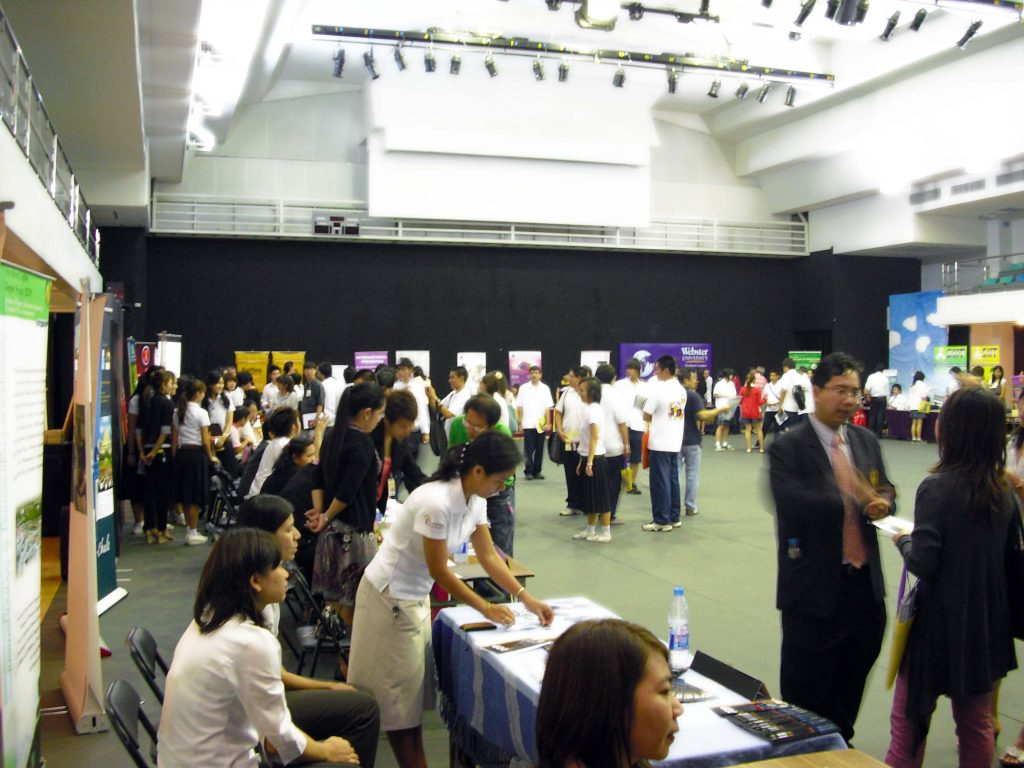The Thai University Fair, hosted at Ruamrudee International School