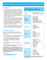 Advanced Placement International Diploma