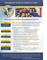 Why Wells International School