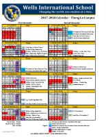 Thong Lor Campus Calendar 2017-2018