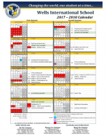 On Nut Campus Calendar 2017-2018
