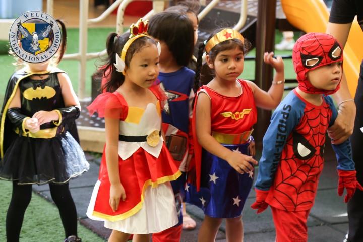 Superheroes Parade at Wells Thong Lo