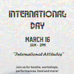 Join us for International Day on March 16!