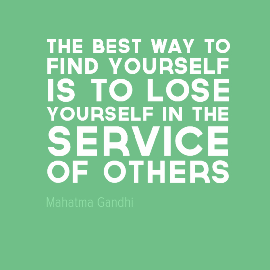 Wells IB CAS Gandhi quote