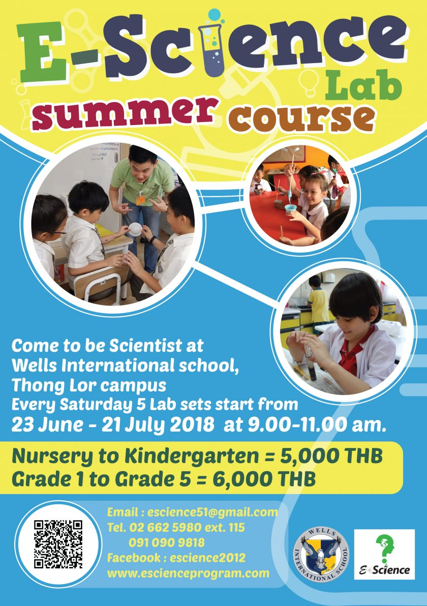 Ad: Summer Science and ESL Courses at Thong Lor Campus!