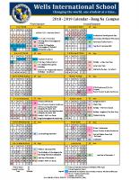 2018-2019 Calendar – Bang Na