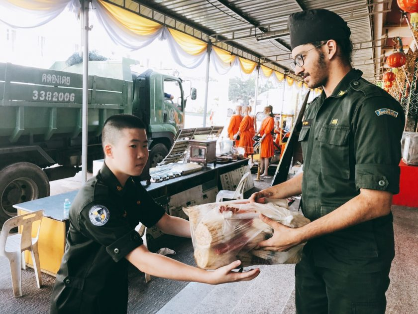 Military Students Engage in Service