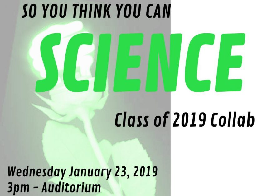 INVITATION: So You Think You Can Science Presentations