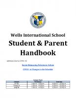 Student & Parent Handbook (Final Version After Stakeholder Input)