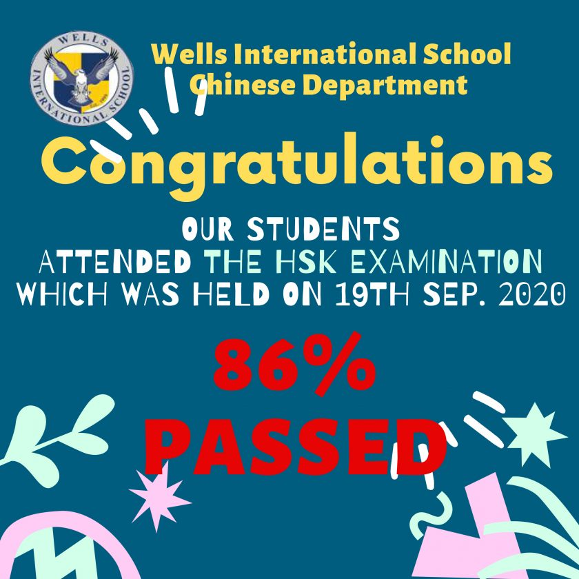 Congratulations! 86% passed HSK Examination